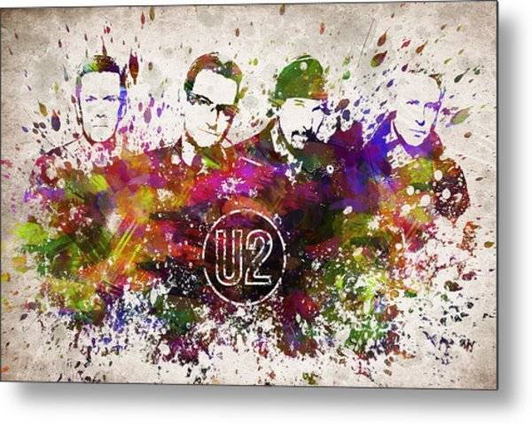 U2 In Color Metal Print