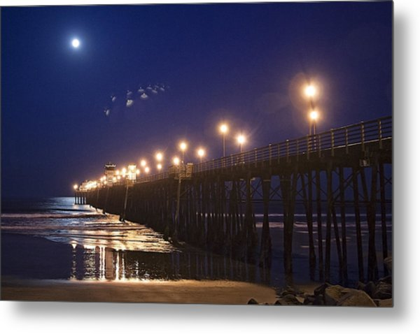 Ufo's Over Oceanside Pier Metal Print