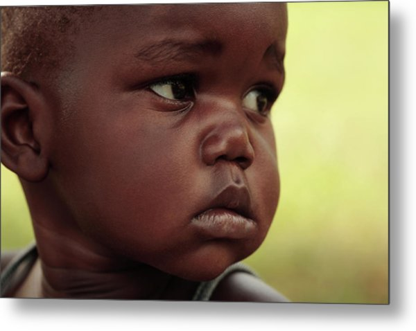 Ugandan Child Metal Print