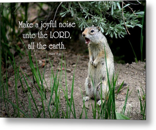 Uinta Ground Squirrel - Psalm 98 Metal Print