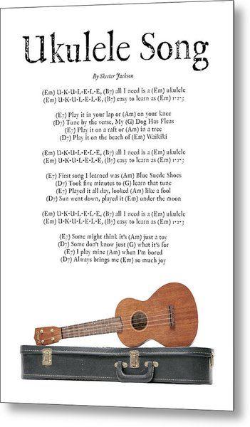 Ukulele Song Metal Print