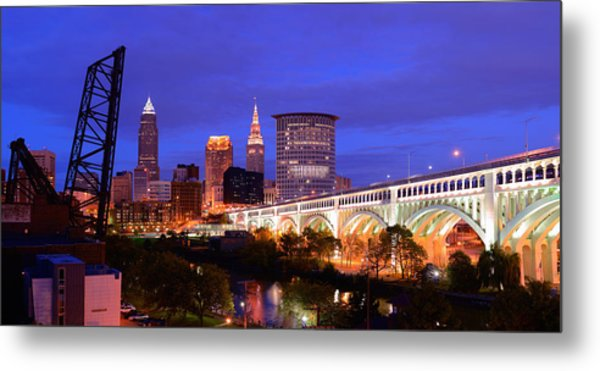 Ultra Rez Clevelands Best View Panorama  Metal Print