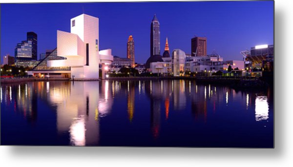 Ultra Rez Cleveland's North Shore Metal Print