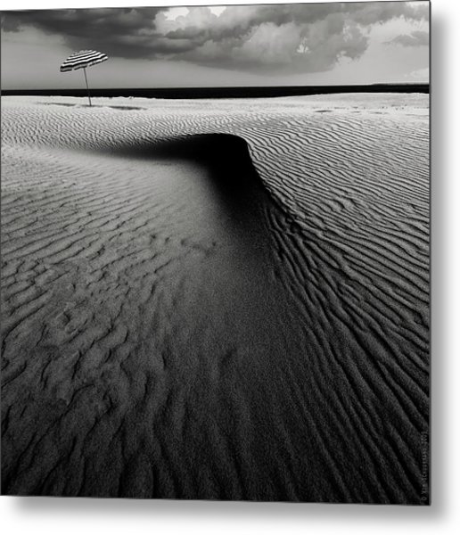 Umbrella On The Beach............... Metal Print