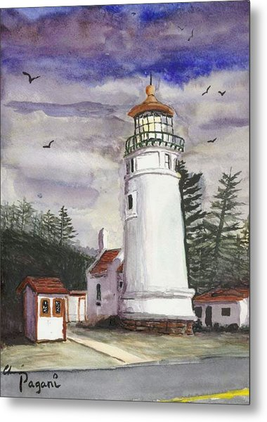Umpqua Lighthouse Metal Print