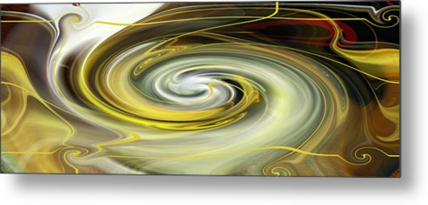 Metal Print featuring the digital art Unbarred Space Abstract by rd Erickson