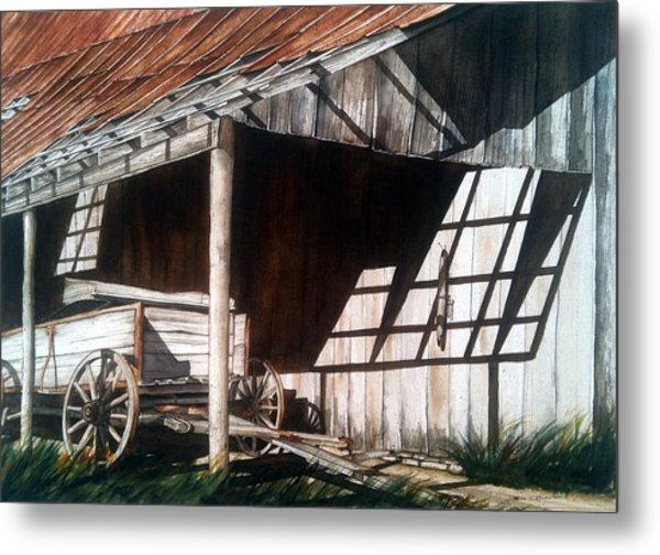 Uncle Seifs Wagon  Metal Print by Don F  Bradford