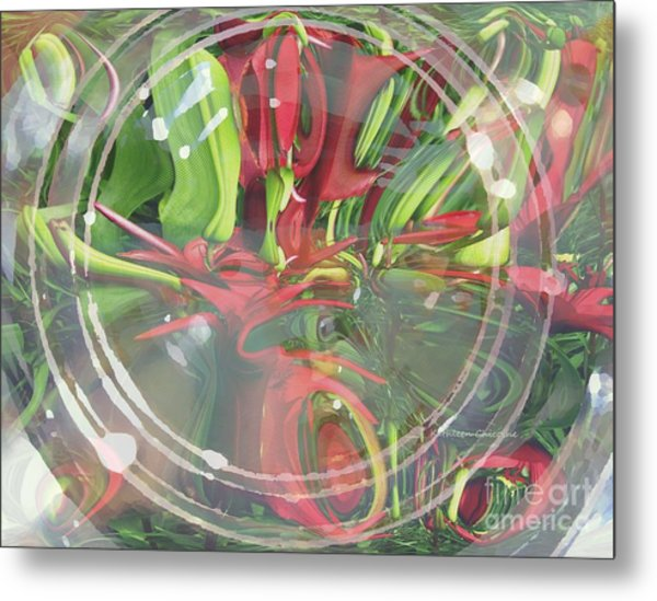 Under Glass Metal Print