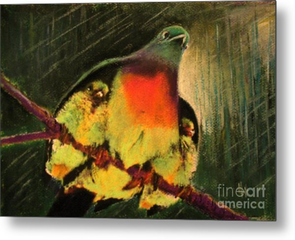 Under His Wings Metal Print
