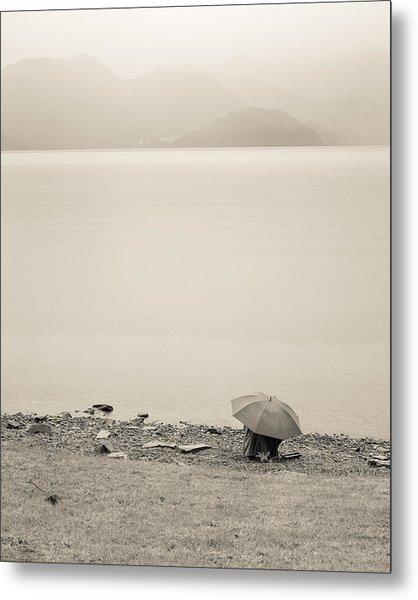 Under My Umbrella Metal Print by Cristel Mol-Dellepoort