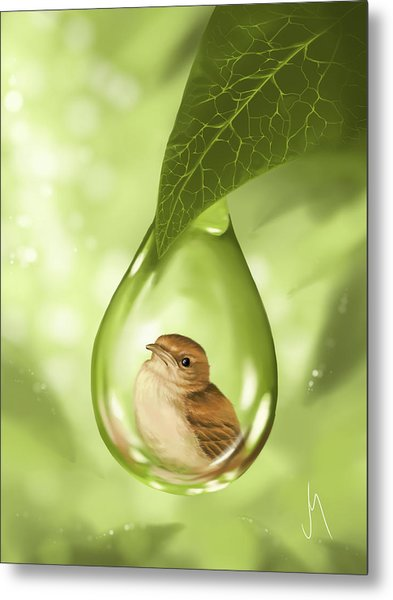 Under Protection Metal Print
