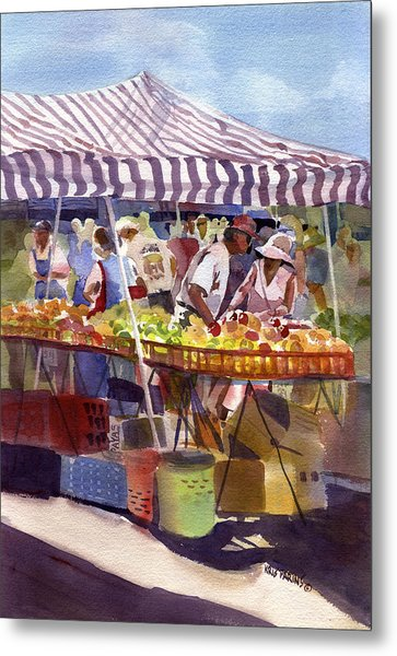 Under The Awning Metal Print