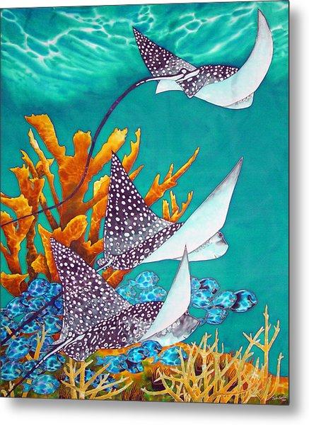 Under The Bahamian Sea Metal Print