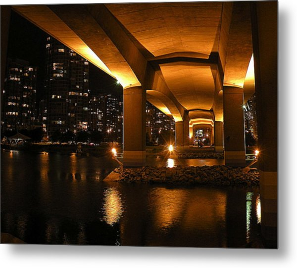 Under The Cambie Street Bridge Metal Print