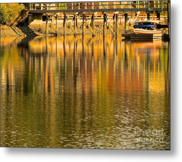 Under The Dock Metal Print