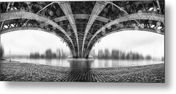 Under The Iron Bridge Metal Print by