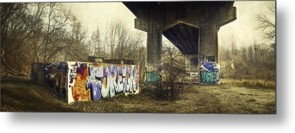Under The Locust Street Bridge Metal Print