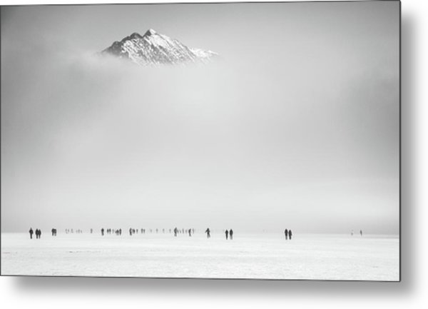 Under The Mountain Metal Print