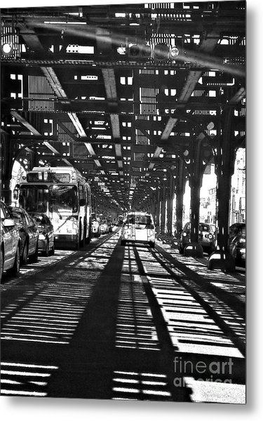 Under The One Train In The Bronx Metal Print