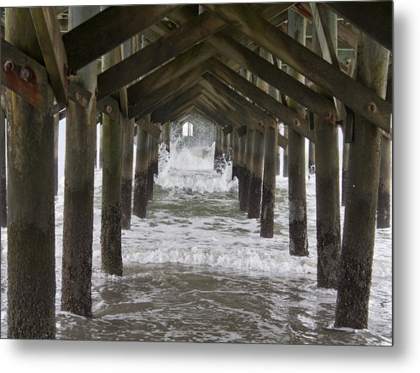 Under The Pawleys Island Pier Metal Print