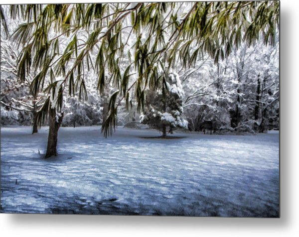 Under The Pines Metal Print