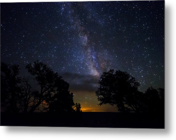 Under The Stars At The Grand Canyon  Metal Print