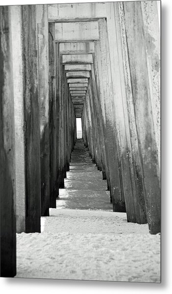 Under The The Pier Metal Print by Thomas Fouch