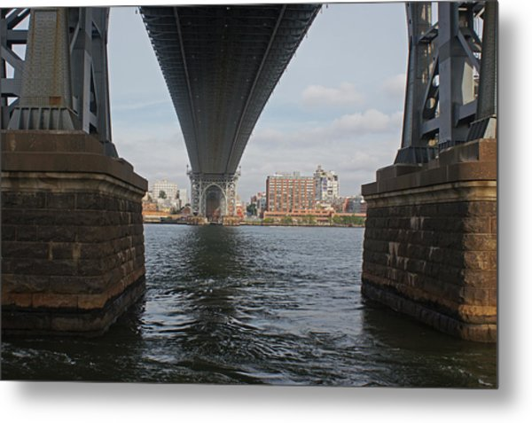 Under The Williamsburg Bridge Metal Print