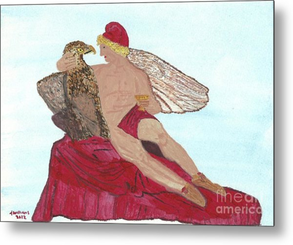 Under The Wings Of Love Metal Print