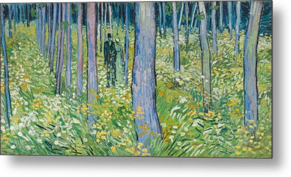 Undergrowth With Two Figures, 1890  Metal Print