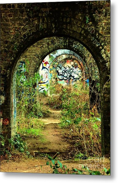 Underneath The Railway Arches Metal Print by C Lythgo