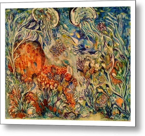 Undersea Friends Metal Print