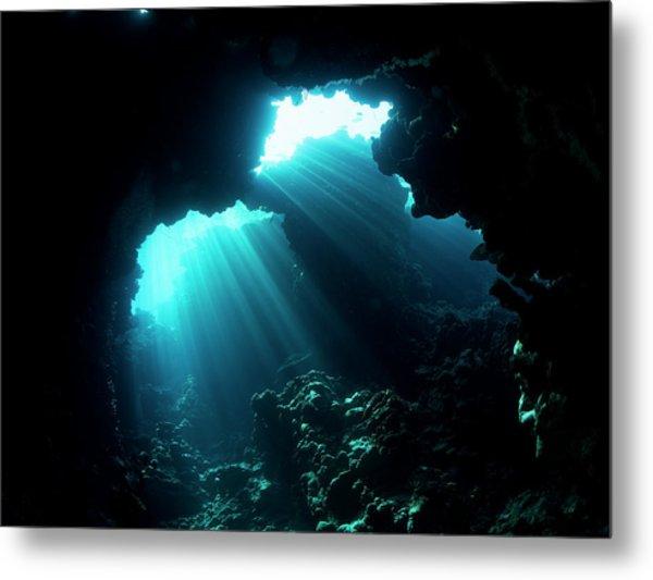 Underwater Cave Metal Print
