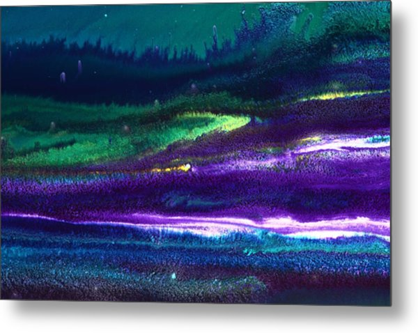 Underwater Landscape Abstract Metal Print