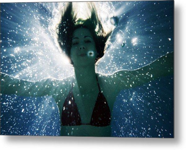 Underwater Self-portrait Metal Print