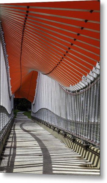Undulating Orange Wave Metal Print