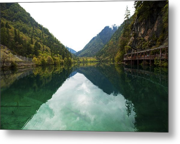 Unesco Landscpe Photostories Of Tibet Jiuzhaigou Metal Print by Sundeep Bhardwaj Kullu sundeepkulluDOTcom