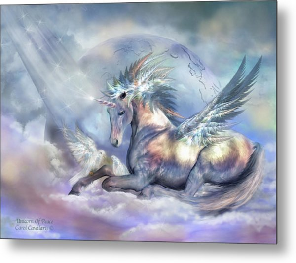 Unicorn Of Peace Metal Print