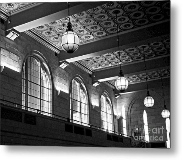 Union Station Balcony - New Haven Metal Print
