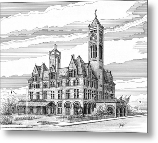 Union Station In Nashville Tn Metal Print