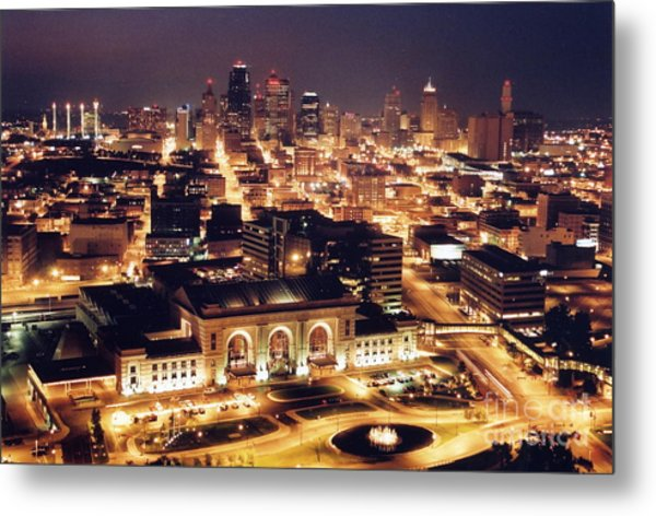 Union Station Night Metal Print