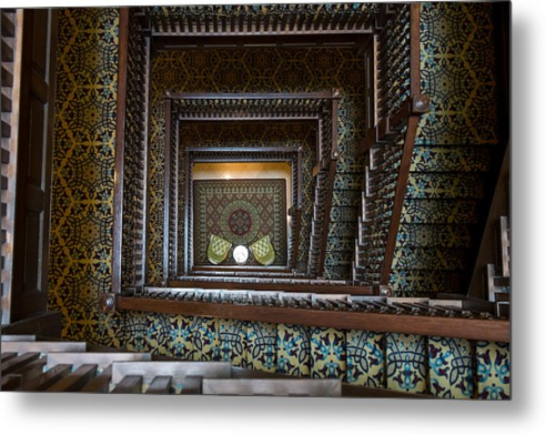 Union Station Stairway Metal Print