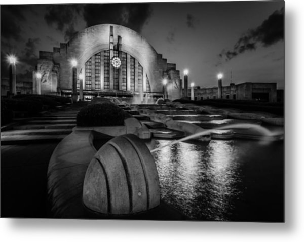 Union Terminal At Night Metal Print
