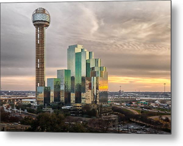 Union Tower Sunset Metal Print