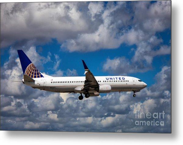 United Airlines Boeing 737 Ng Metal Print