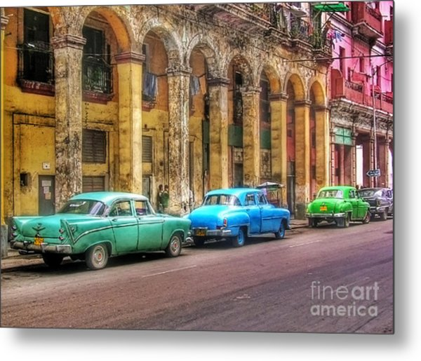 United Colors Of Coches Habaneros Metal Print