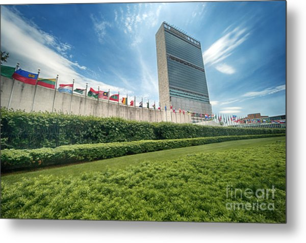 United Nations Metal Print