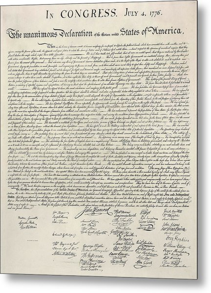 United States Bill Of Rights Metal Print