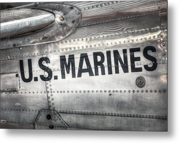 Metal Print featuring the photograph United States Marines - Beech C-45h Expeditor by Gary Heller