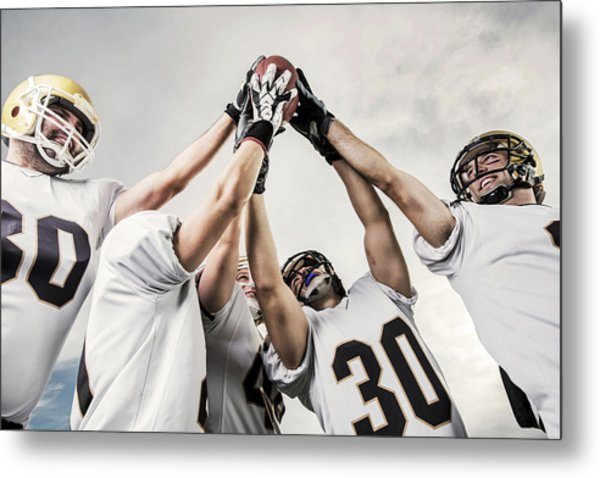 Unity Of American Football Players Metal Print by Skynesher